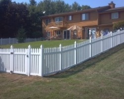 "Alexander Vinyl Fence with 2"" pickets and straight top"