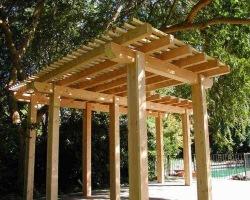 Wood trellis