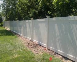 Zachary vinyl full privacy fence