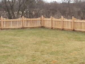 quality fence - cedar scalloped